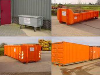 containers in verschillende maten